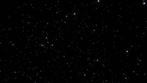 Twinkling stars background. Looped