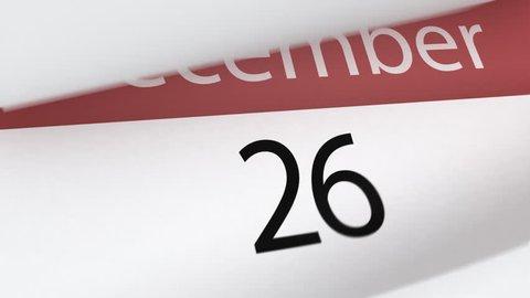 Calendar (year), 3d animation