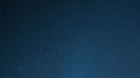 Night sky with moving stars, Timelapse Of Stars Moving In Night Sky
