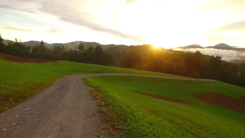Mountain road and sunrise | Shutterstock HD Video #19785313