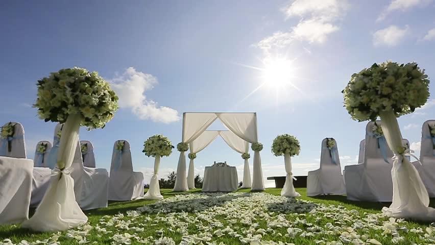 Wedding Flower Arch Decoration. Wedding Arch Decorated With ...