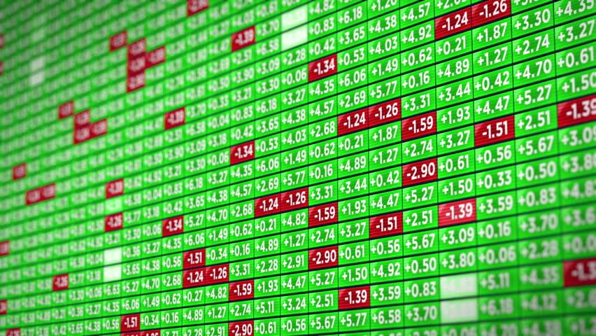 Positive Stock Market Ticker Board   Shutterstock HD Video #19794751
