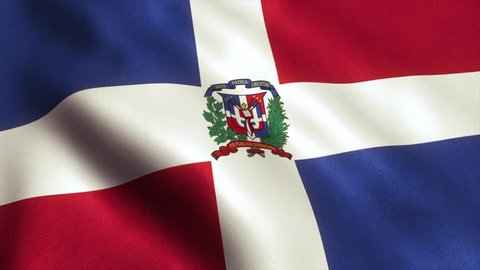 Dominican Republic Flag. Seamless Looping Animation. 4K High Definition Video