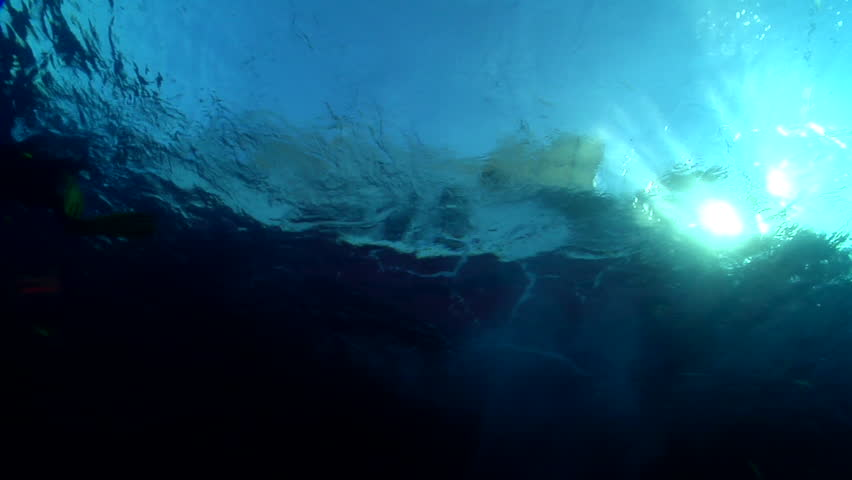 Lone diver entry on water surface, HD, UP19804 - HD stock video clip