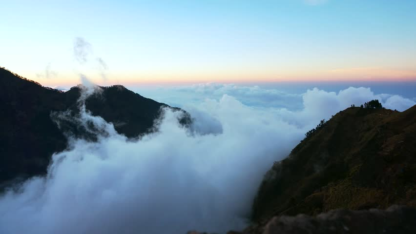 Time lapse of cloudscape, Rinjani mountain, Lombok island,Indonesia | Shutterstock HD Video #19875304