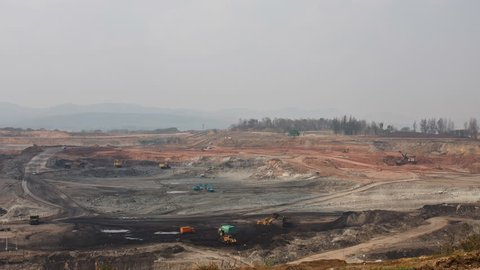 Coal mining in north of Thailand