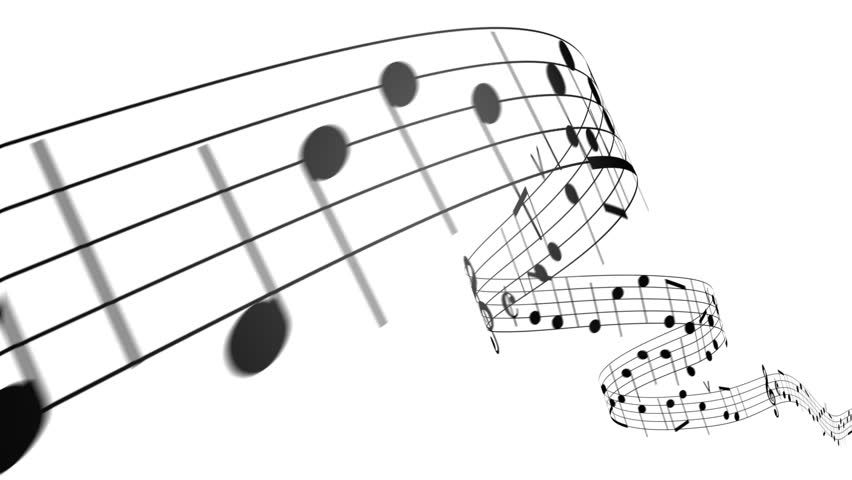 Music notes flowing on white background. Seamless animation. HD 1080. | Shutterstock HD Video #1994048