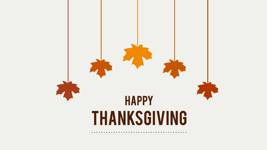 Visually Similar Footage Hd0010Happy Thanksgiving Day Typographic Animated