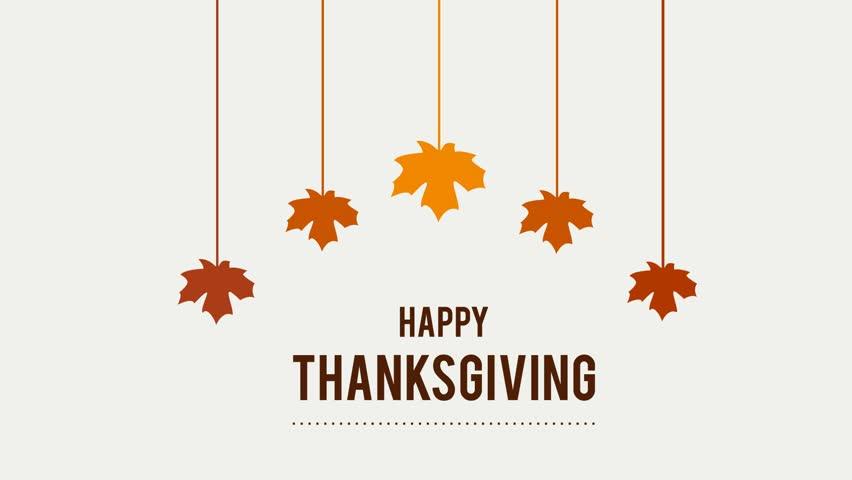 Happy Thanksgiving Day Typographic Animated Design
