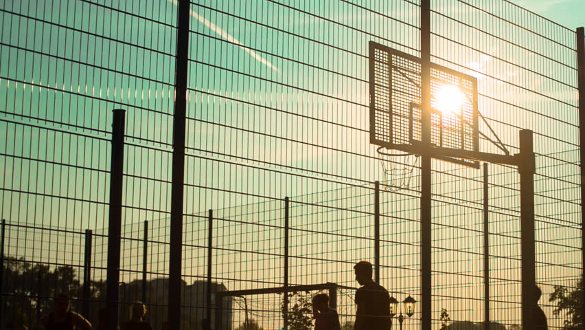 The game of basketball on outdoor playground | Shutterstock HD Video #19971418