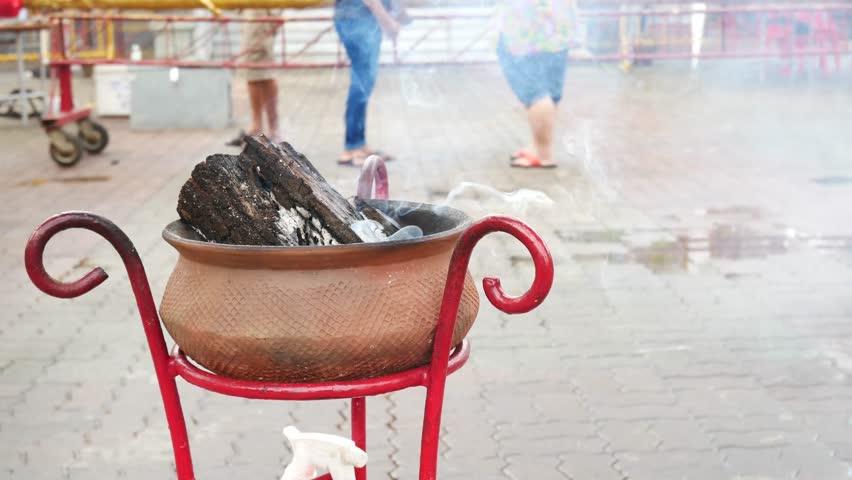 4K incense pot or Frankincense in Phuket Vegetarian Festival.