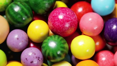 Multi-colored sweets, lollipops and chewing gum. shooting rotation