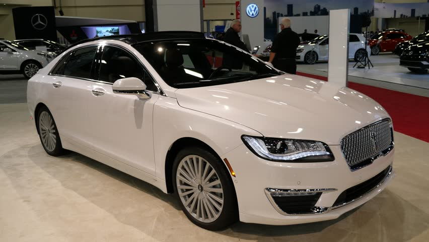 Beach Convention Center Miami Usa September 10 2016 Lincoln Mkz Sedan On Display During The
