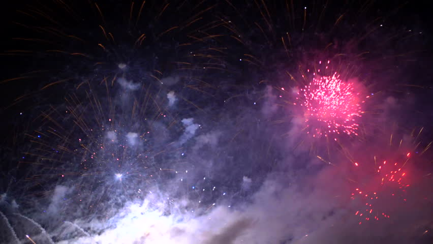 Fantastic very bright colored fireworks at the night | Shutterstock HD Video #20102128