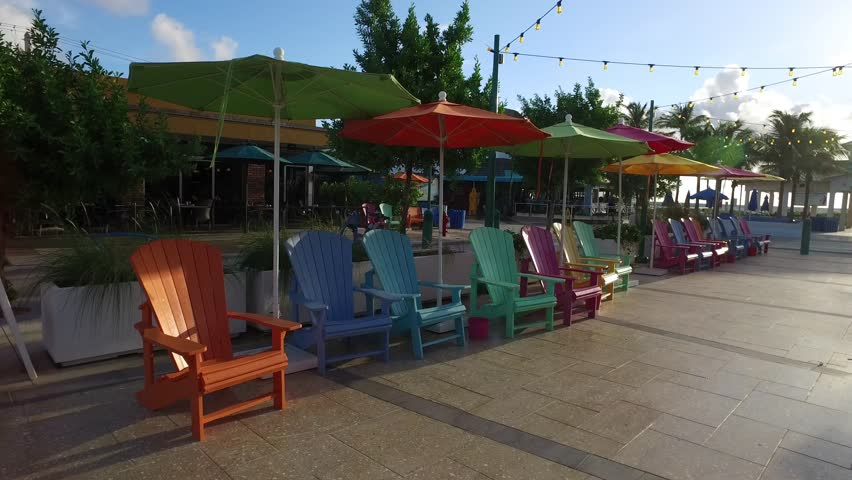 Colorful Adirondack Chair Provide Sidewalk Stock Footage Video (100%  Royalty-free) 20125918 | Shutterstock