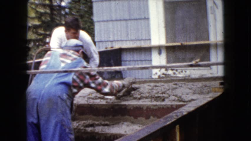 WAUCONDA, ILLINOIS 1960: a construction area beside a mud   Shutterstock HD Video #20136898