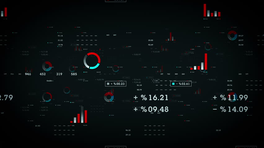 Business Graphs And Data Black - Graphs and other business data drifting through cyberspace. Available in multiple color options. All clips loop seamlessly. | Shutterstock HD Video #20174578