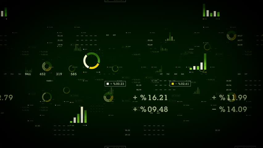 Business Graphs And Data Green - Graphs and other business data drifting through cyberspace. Available in multiple color options. All clips loop seamlessly. | Shutterstock HD Video #20174581