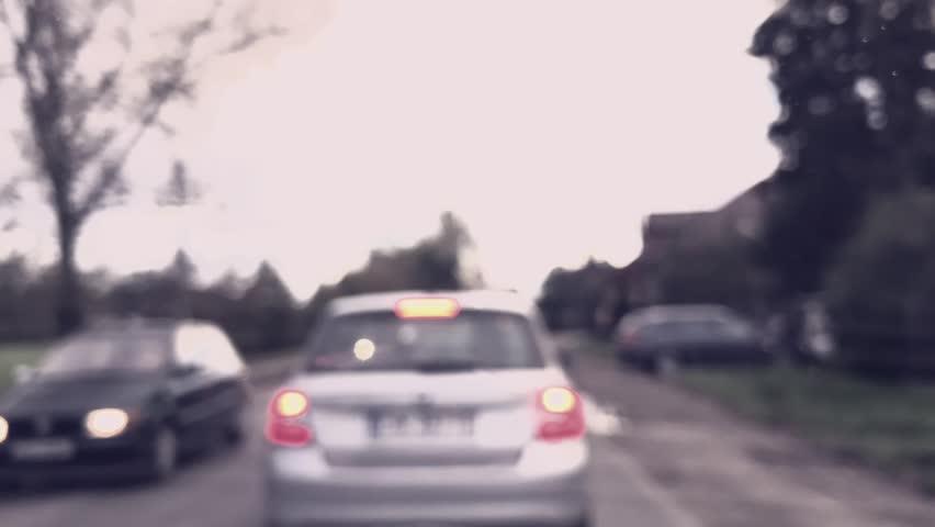 Driving in Traffic jam - timelapse footage, defocused, bokeh.   Shutterstock HD Video #20185405
