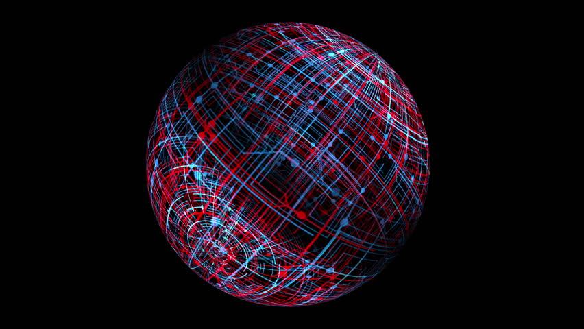 Technology spinning globe  | Shutterstock HD Video #20192788