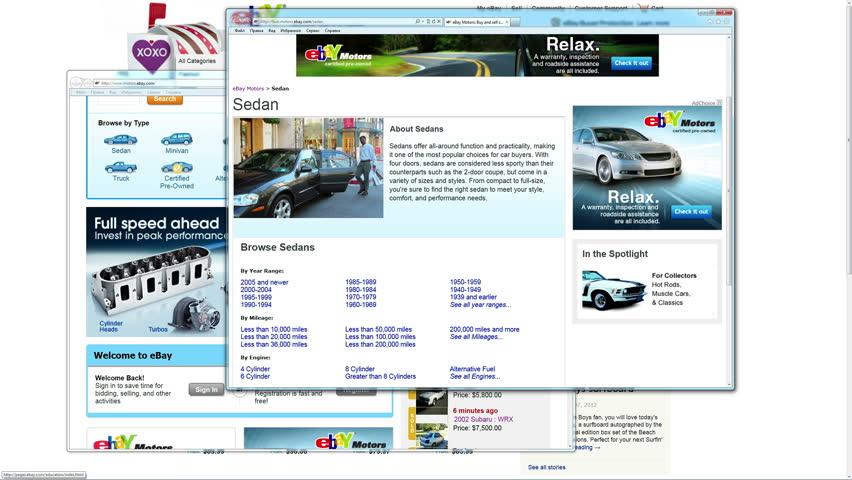 4K Screen displays popular social network and business websites (Google, Facebook, Twitter, MySpace, Blogger, Flickr, Yahoo, LinkedIn, EBay, Amazon). Internet surfing timelapse, 24 seconds
