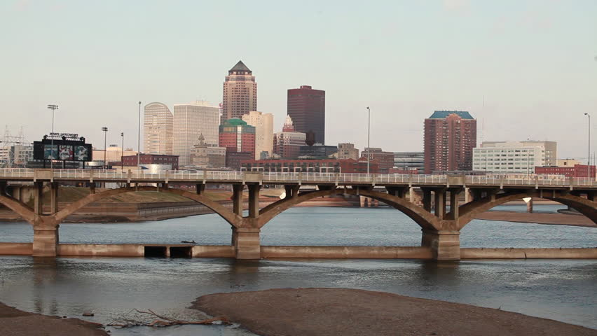 Des Moines, Iowa cityscape.
