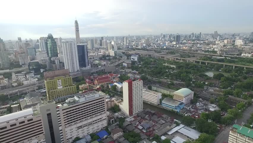 Bangkok Aerial View Footage.Fly on Town. | Shutterstock HD Video #20242798
