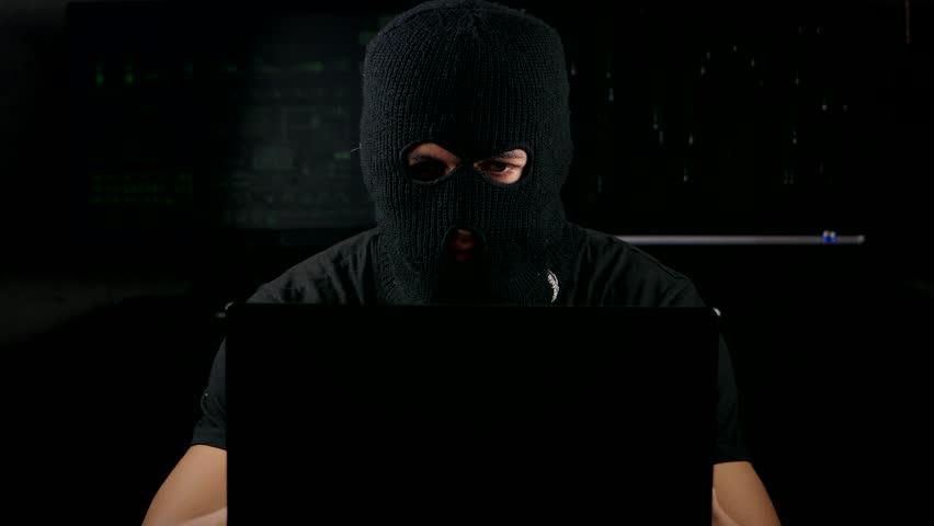 Dangerous Hacker In A Mask Stock Footage Video 100 Royalty Free 20243518 Shutterstock