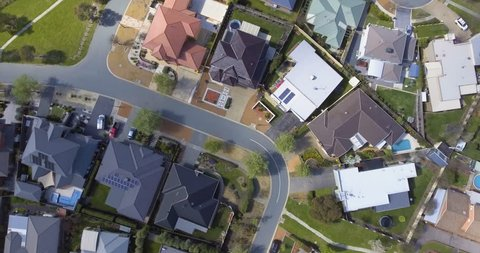 Aerial view of a Canberra suburb, Australia