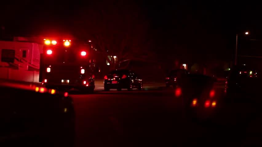 Emergency Vehicles at Night