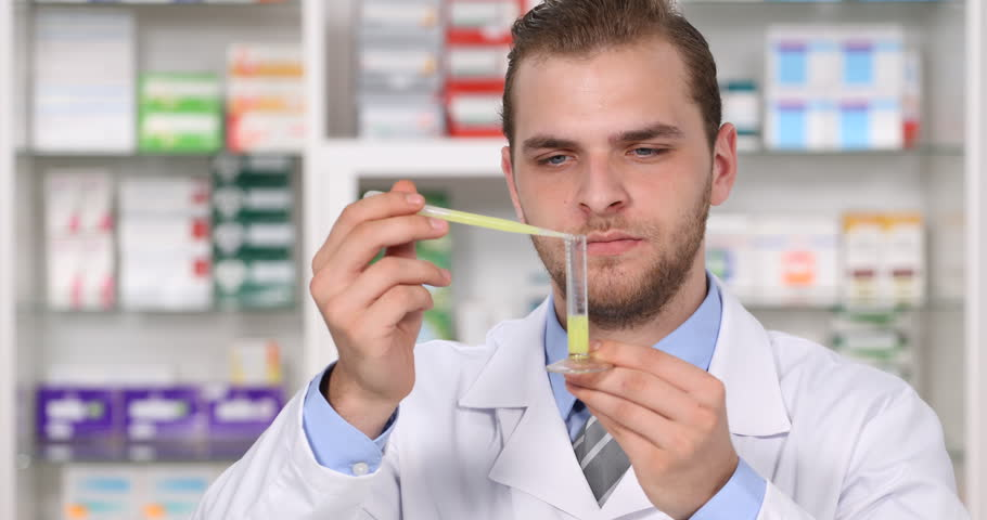 vaccine drug test preparation laboratory young scientist man developing medicine ultra high definition ultrahd