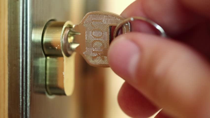 & Stock video of man closes door to the | 20447038 | Shutterstock