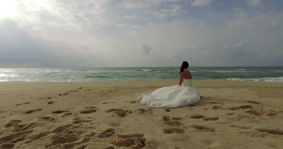 Man and woman wedding couple together at the beach | Shutterstock HD Video #20448148