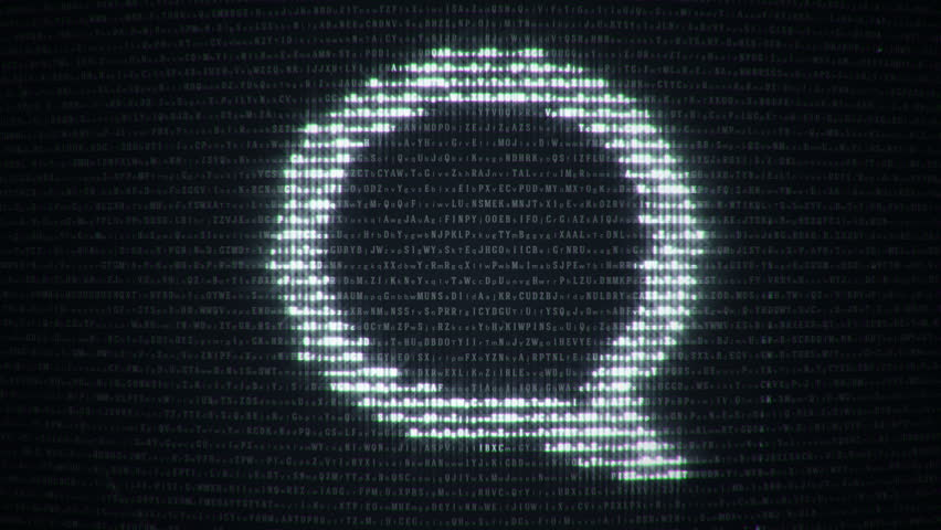 Abstract background with binary code and symbol of computer technologies on display screen. Animation of seamless loop. | Shutterstock HD Video #20488078