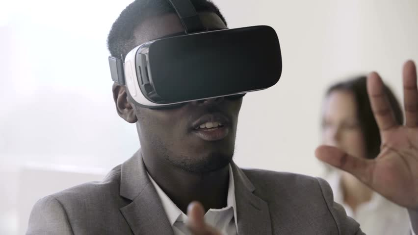 Image result for virtual reality headset worn by black people