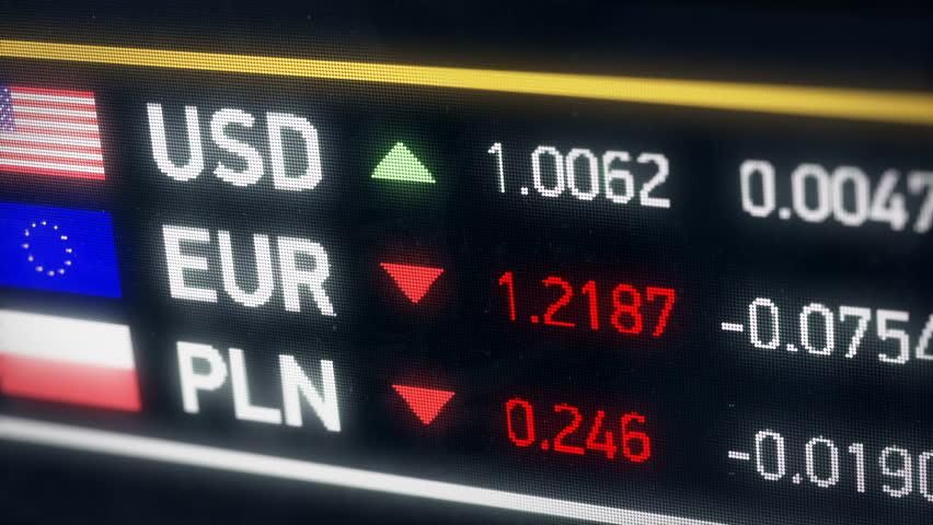 Polish Zloty, US dollar, Euro comparison, currencies falling, financial crisis. World currencies plummet down, financial crisis, stock market crash | Shutterstock HD Video #20522068