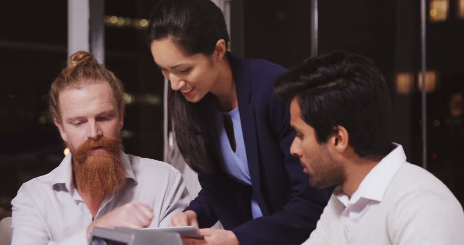 Business people discussing over digital tablet in office 4k | Shutterstock HD Video #20527120
