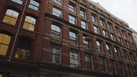 An exterior shot of A SOHO loft in New York City. Establishing shot during the summer of 2016. (Jan 16 - New York City)