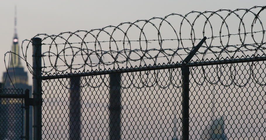 Barbed Wire Fence Background