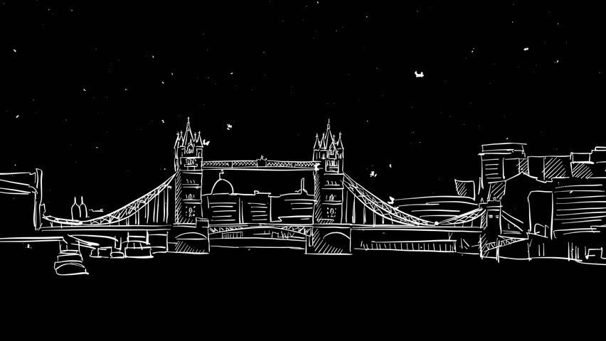 Tower bridge outline