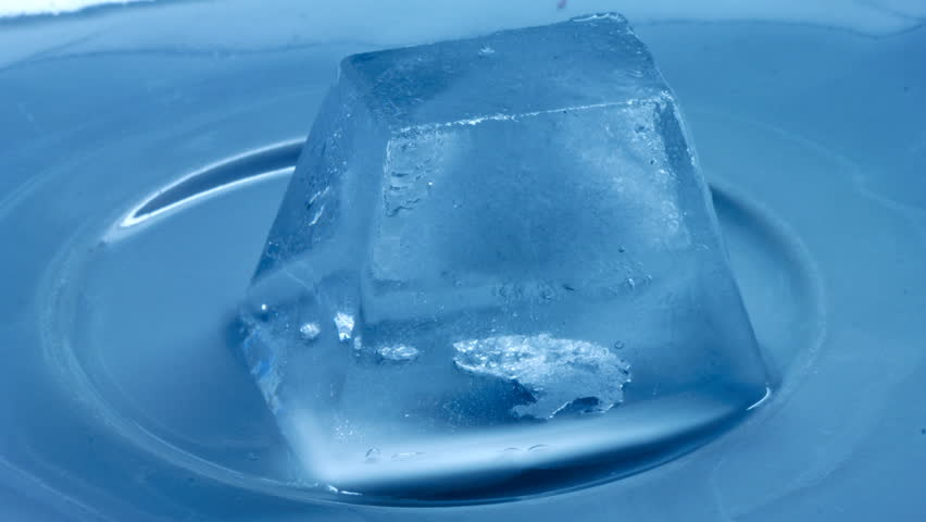time lapse of melting of ice cube