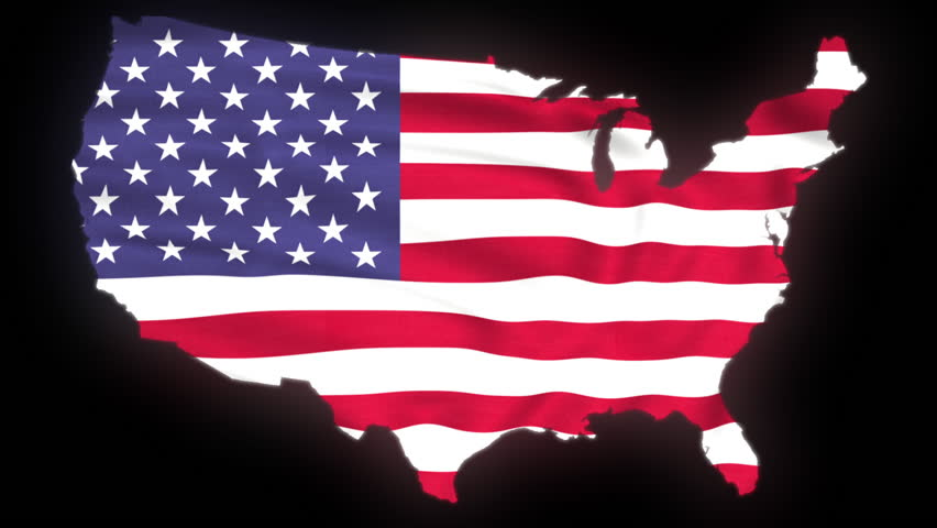 Flag Of The United States Into Usa Map Stock Footage Video Us Map Flag