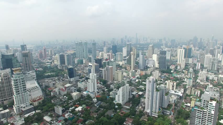 Aerial view of sukhumvit area in bangkok thailand | Shutterstock HD Video #20601958