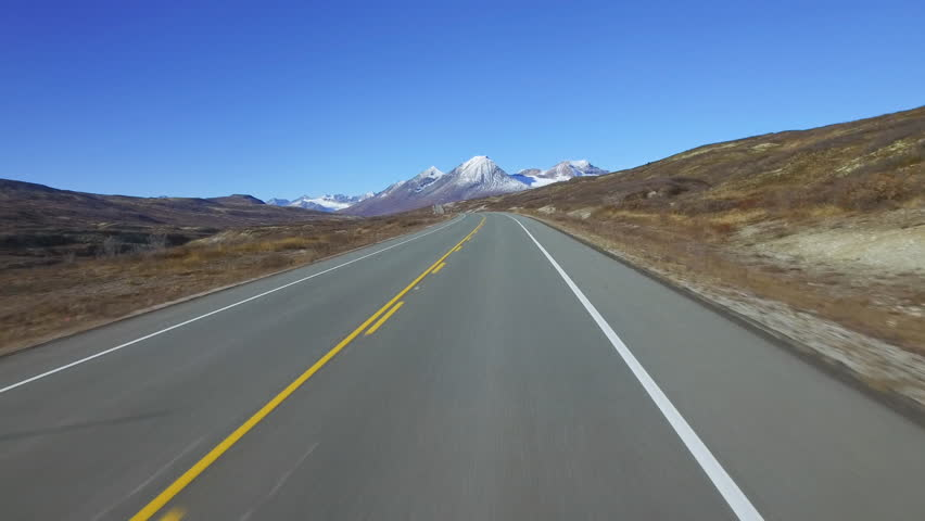 Heading up Haines Summit Late Autumn Driving POV 1 of 5