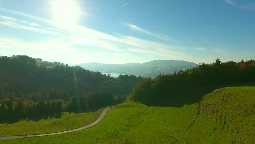 drone, mountain Berra, fall  #20641648