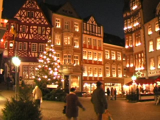 old town at christmas, Germany