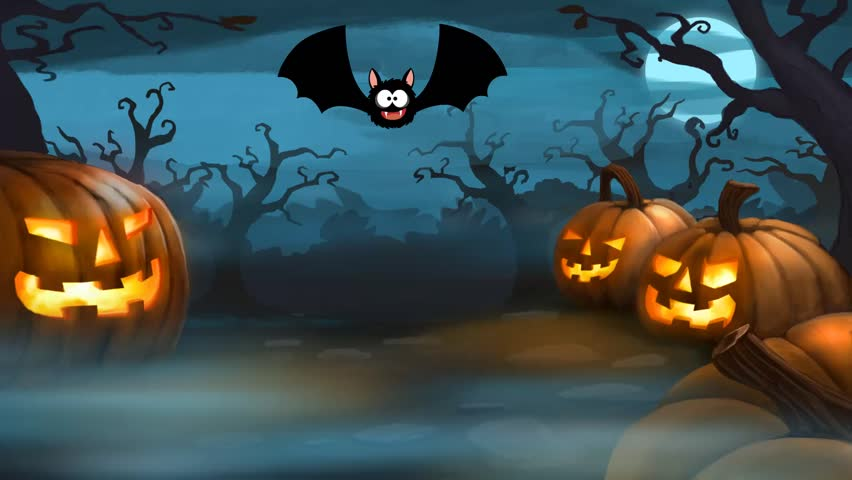 cartoon halloween background stock footage video 20691268 shutterstock - Halloween Background Video