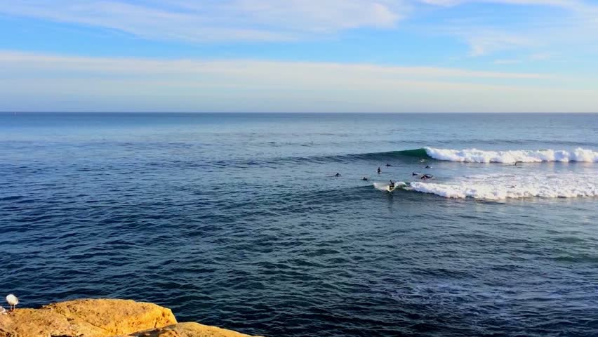 Santa Cruz, Pleasure Point, on the northern Monterey Bay in Santa Cruz County, California, USA, a world renowned surf location | Shutterstock HD Video #20733238