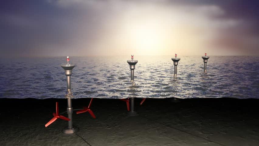 Tidal sea energy, concept