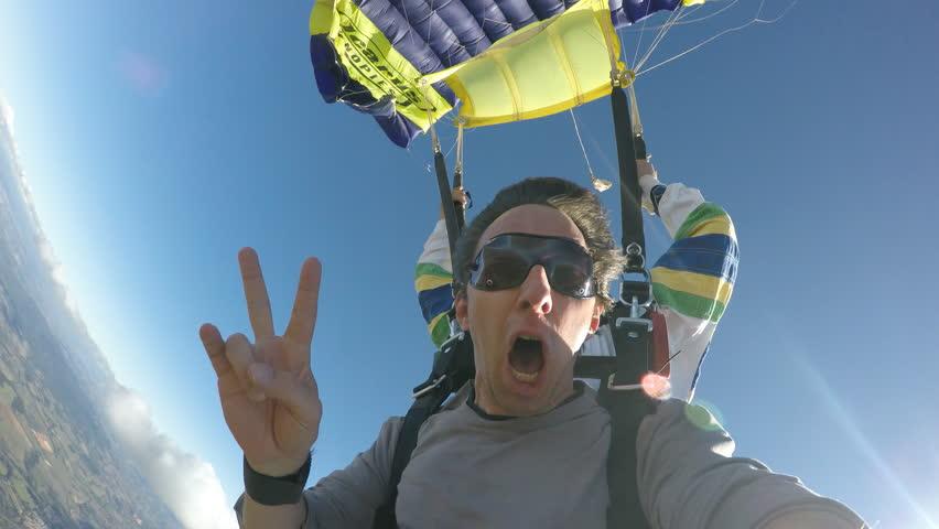 Skydive tandem opening | Shutterstock Video #20757856